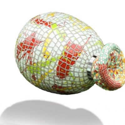 Mosaic balloon ism. P. Vial/ 45x28x28/glas en gasbeton/ 1100,--