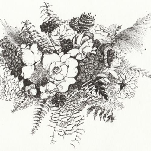 Bruidsboeket tekening (de Bloemenkeuken)