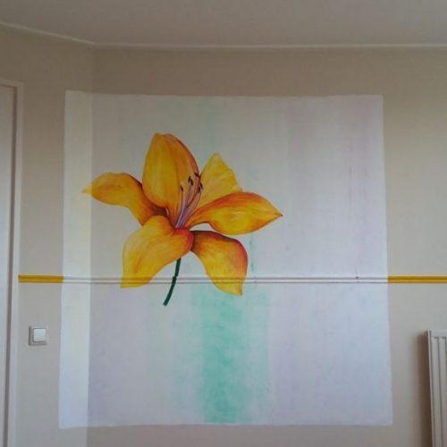 Muurschildering compleet