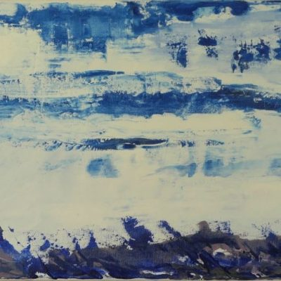 Sea / acryl op doek/ 80x40/ 245,--